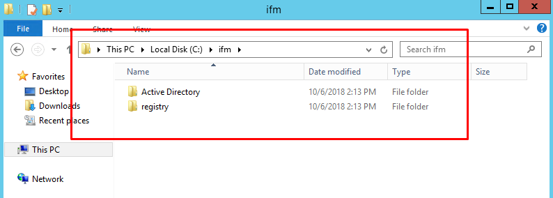 Deploy Domain Controller using Install From Media (IFM)